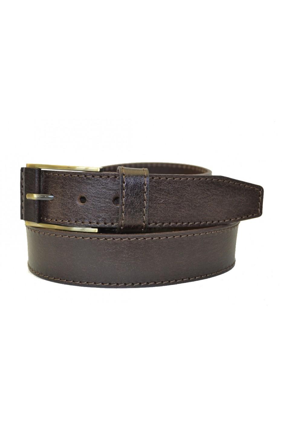 Коричневый кожаный мужской ремень 350010