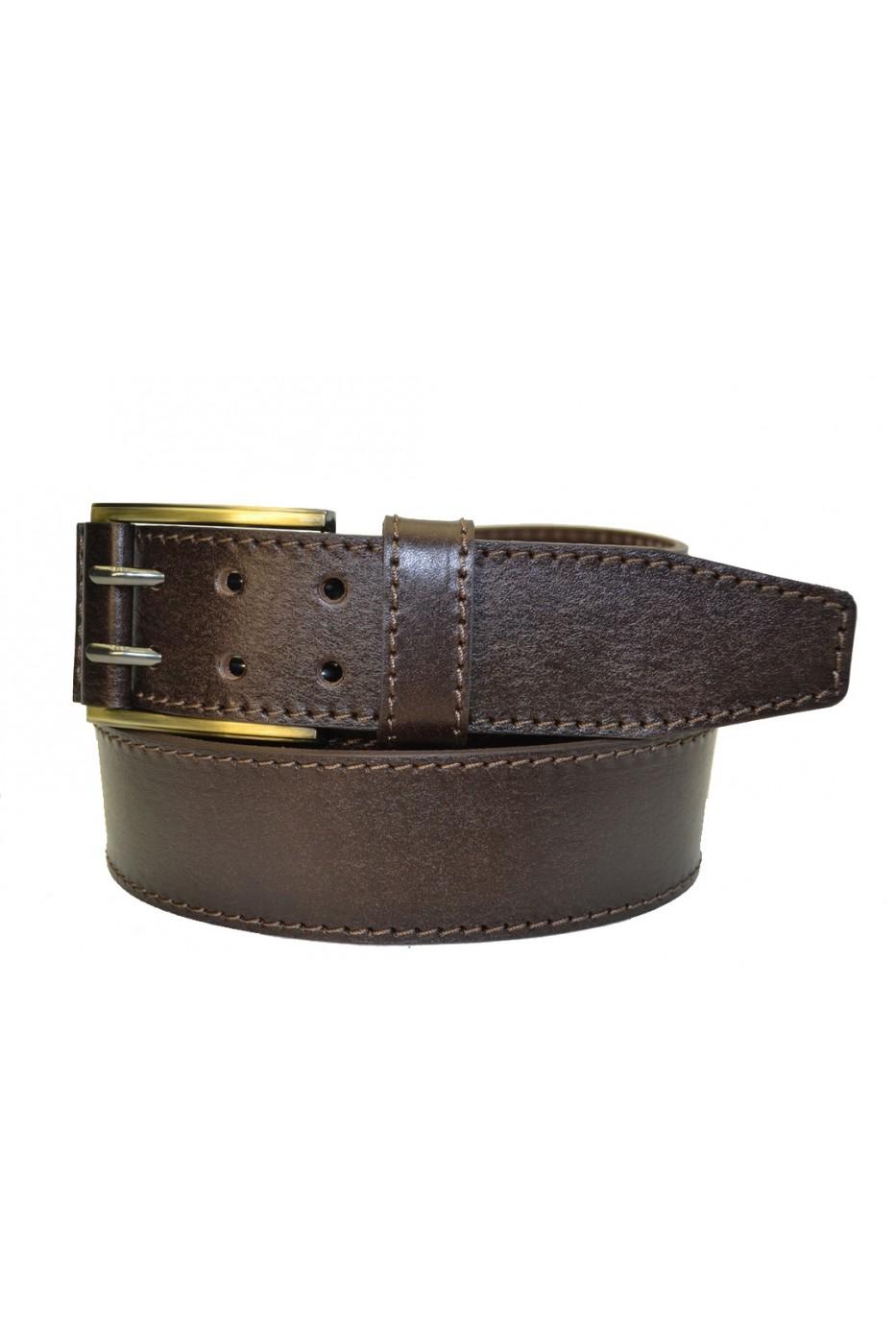 Коричневый кожаный мужской ремень 405110
