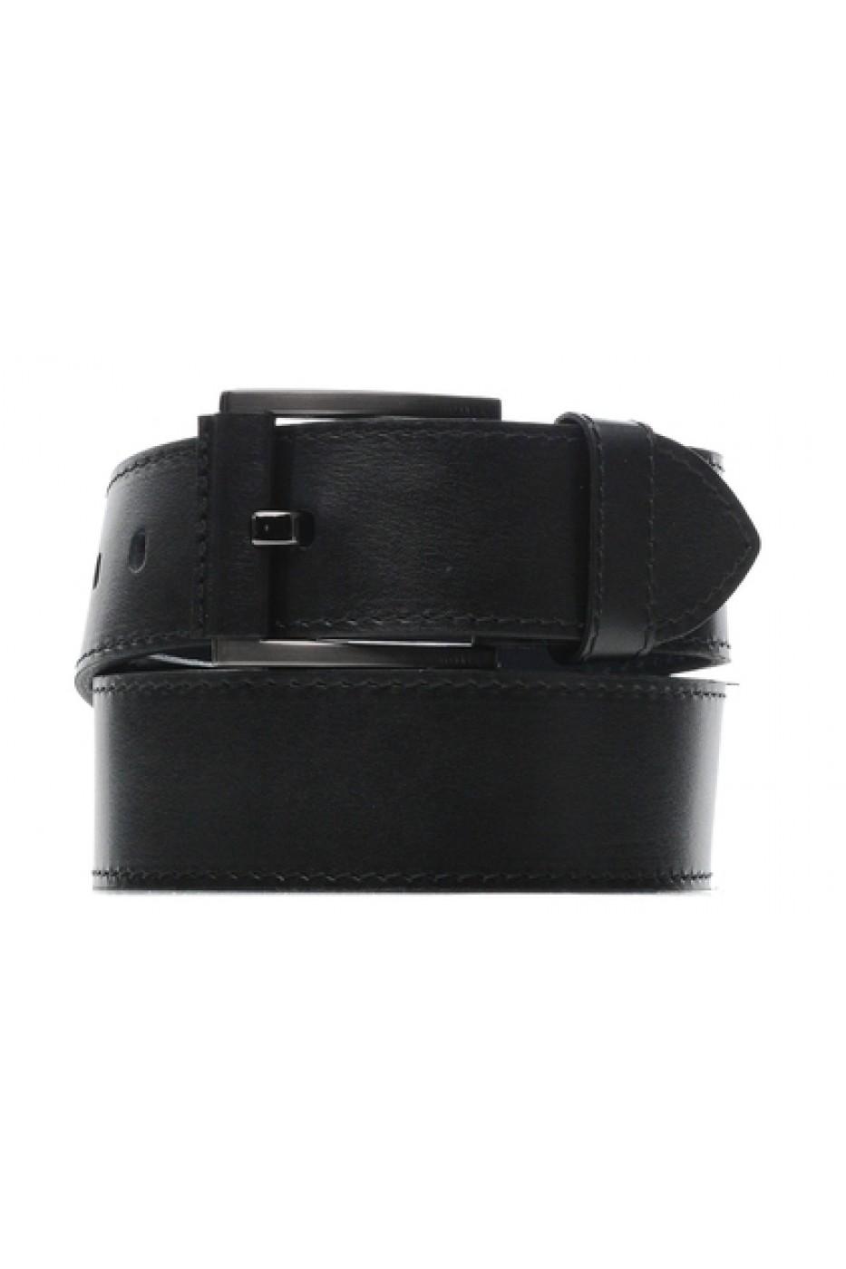 Чёрный кожаный мужской ремень 450001
