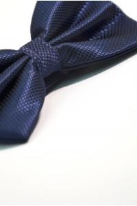Тёмно-синяя мужская  однотонная бабочка