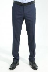 Тёмно-синие мужские брюки в синюю клетку 2022Б (BORELLI-552)