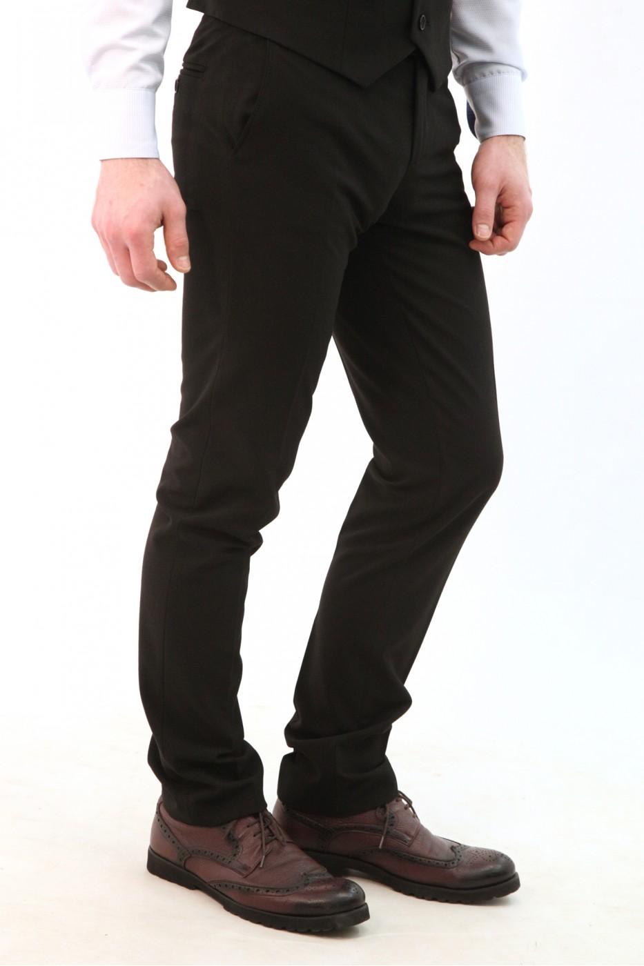 Чёрные мужские брюки кэжуал 2106Б (NORMA-552)