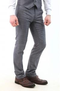 Серые мужские брюки в серую клетку 2107Б (ROLEX-552)