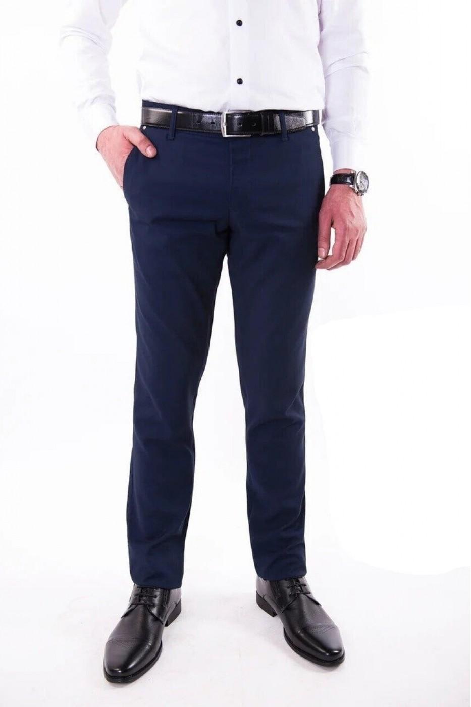 Тёмно-синие мужские брюки casual 2303 MEYLI