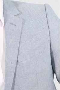 Белый мужской пиджак под джинсы 838 (FREDDIE-162)