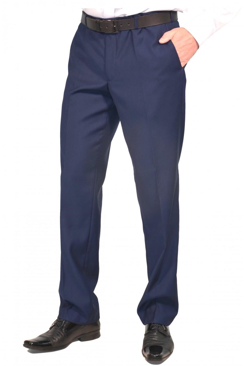 Тёмно-синие мужские классические брюки демисезон 891 (ERWIN-550)