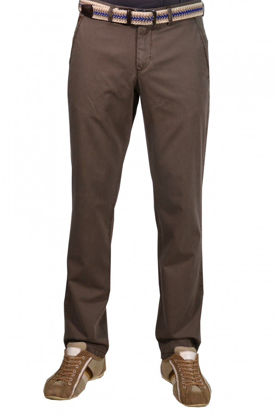Коричневые мужские брюки чинос BANKO (BEIGE)