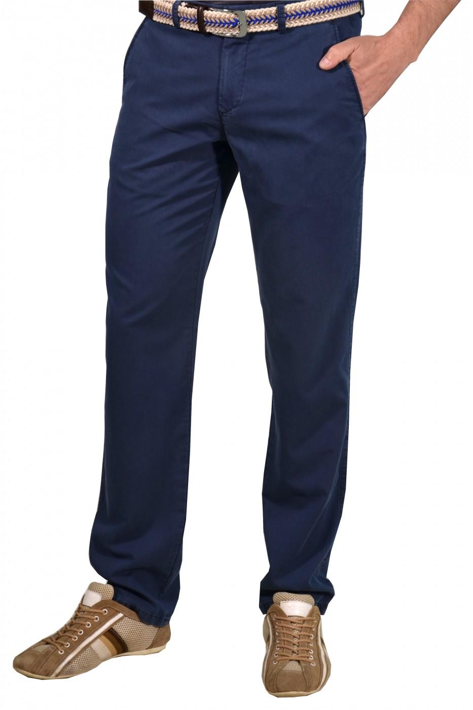 Синие мужские брюки чинос casual BANKO (NAVI)