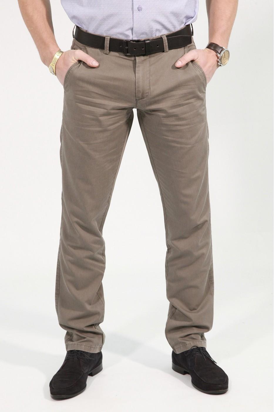 Серо-коричневые мужские брюки чинос BANKO (S-KAHVE)