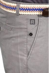 Серые мужские брюки чинос CINAR PRINT (A.GREY)