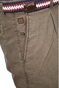 Коричневые мужские брюки чинос casual CINAR PRINT (HAKI)