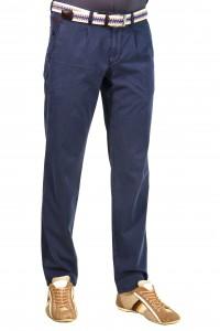 Синие мужские брюки чинос casual CINAR PRINT (NAVI)