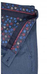 Серые мужские casual брюки в мелкую клетку DEFNE-2 (114)