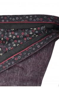 Бордовые мужские брюки в серую клетку KALINKA (6)