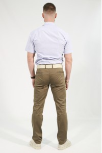 Коричневые мужские брюки чинос MONACO (210)