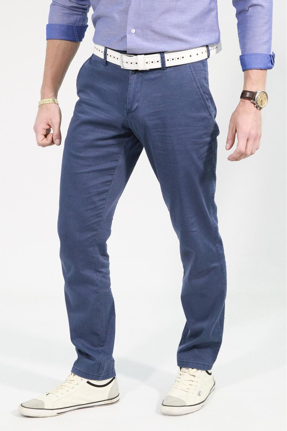 Светло-синие мужские брюки чинос PABLO (736)