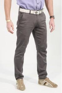 Серые мужские брюки чинос SIDE (968)