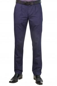 Тёмно-синие мужские брюки чинос casual в клетку YAZLIK EKOSE (INDIGO)