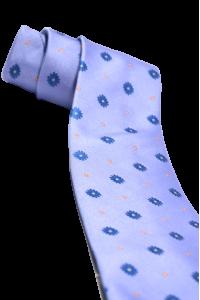 Сиреневый мужской галстук с васильками
