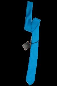 Бирюзовый мужской галстук однотонный