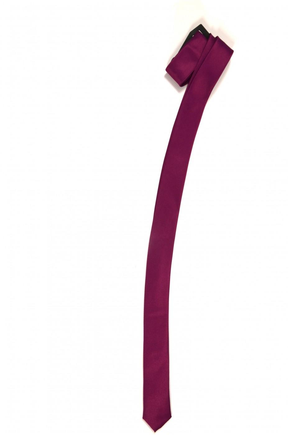 Бордовый мужской галстук однотонный