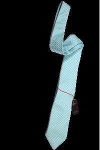 Березовый мужской галстук в голубой квадрат