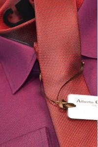 Красный мужской галстук Alberto Cabale