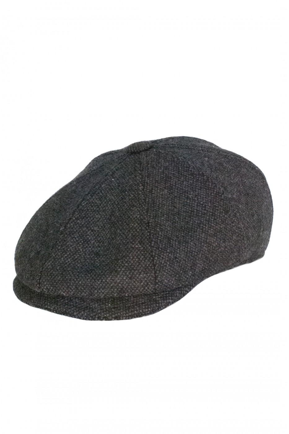 Тёмно-серая мужская кепи 006 (KIRK-TK18)