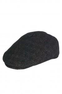 Чёрная мужская кепи в клетку 007 (JONNY-TK15)