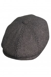 Тёмно-серая мужская кепи 008 (COMO-TK18)