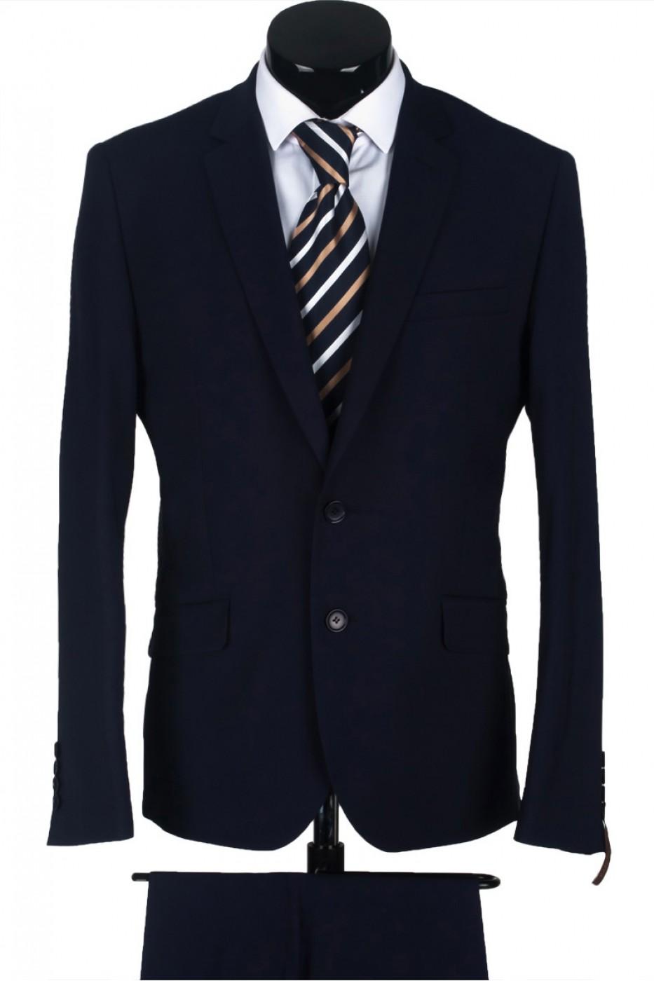 Чёрный мужской костюм 1321*US POINT LUXE