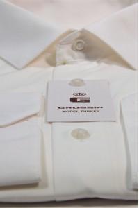 Бежевая деловая рубашка GROSSIR GS 202