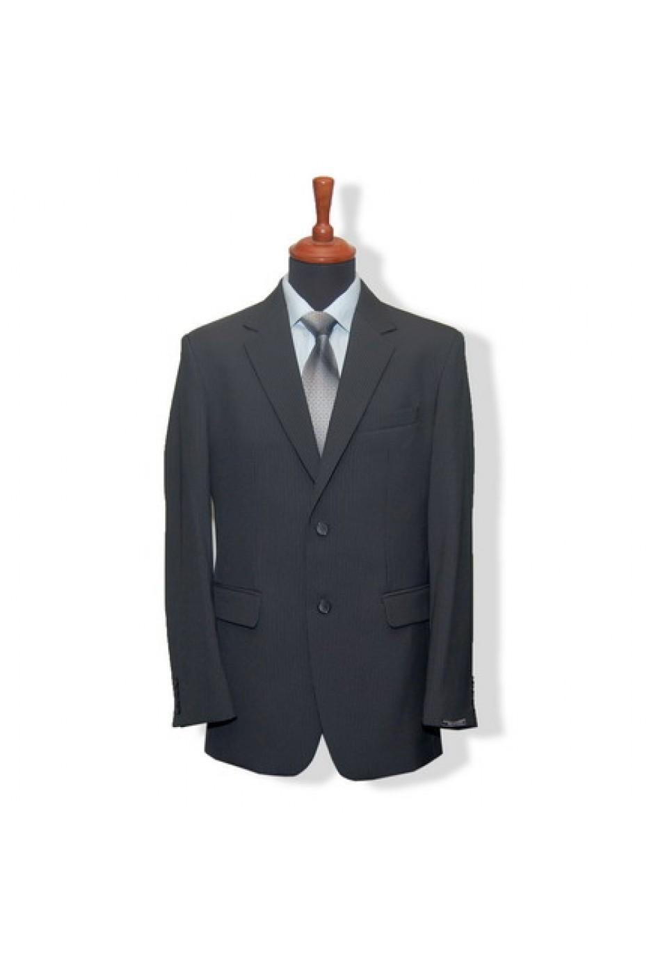 Чёрный мужской костюм VIDO 378