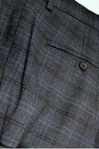 Тёмно-синие мужские брюки в синюю клетку 515 GRAF