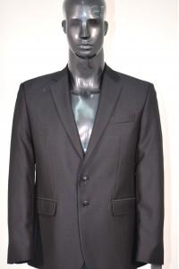 Тёмно-синий мужской костюм в мелкую клетку Эштонм/М