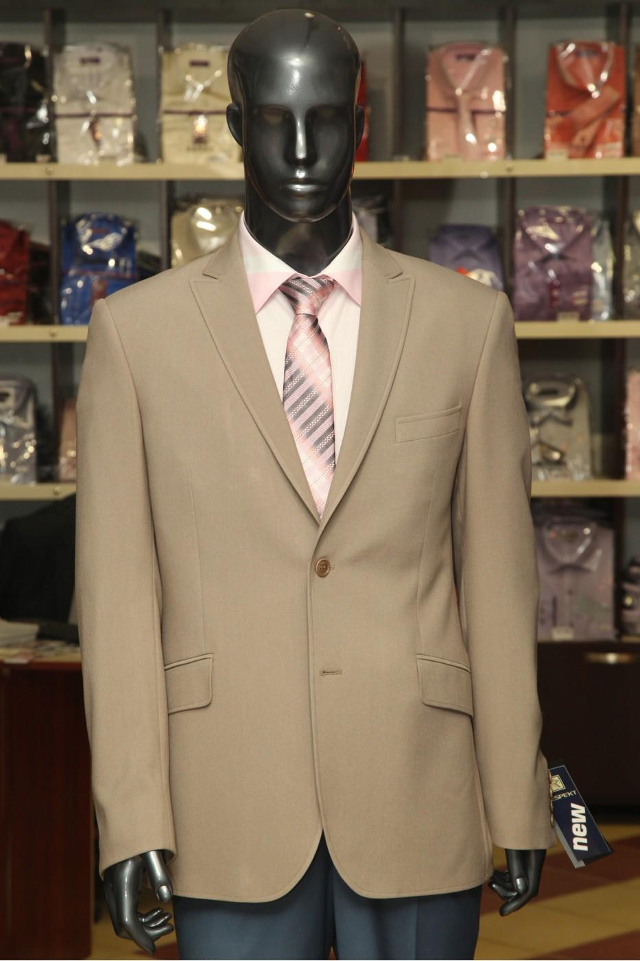 Коричневый мужской пиджак DEMA