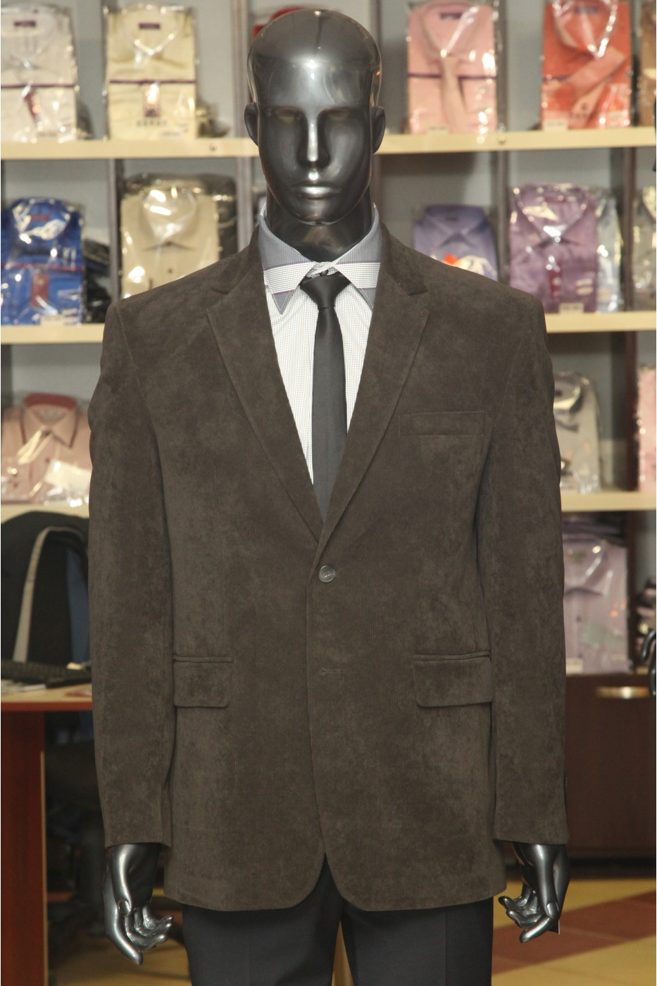 Коричневый мужской пиджак STATUS Сантана Браун