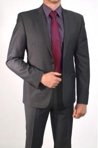 Cерый мужской костюм ABS 0321*S SANDRO