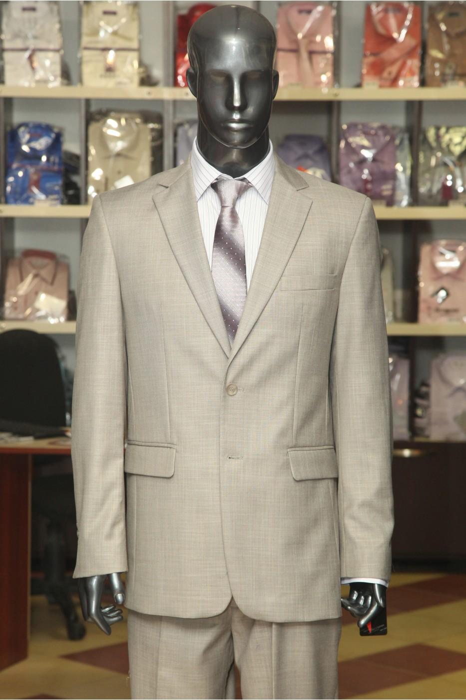 Cерый мужской костюм VIDO Мэдисон