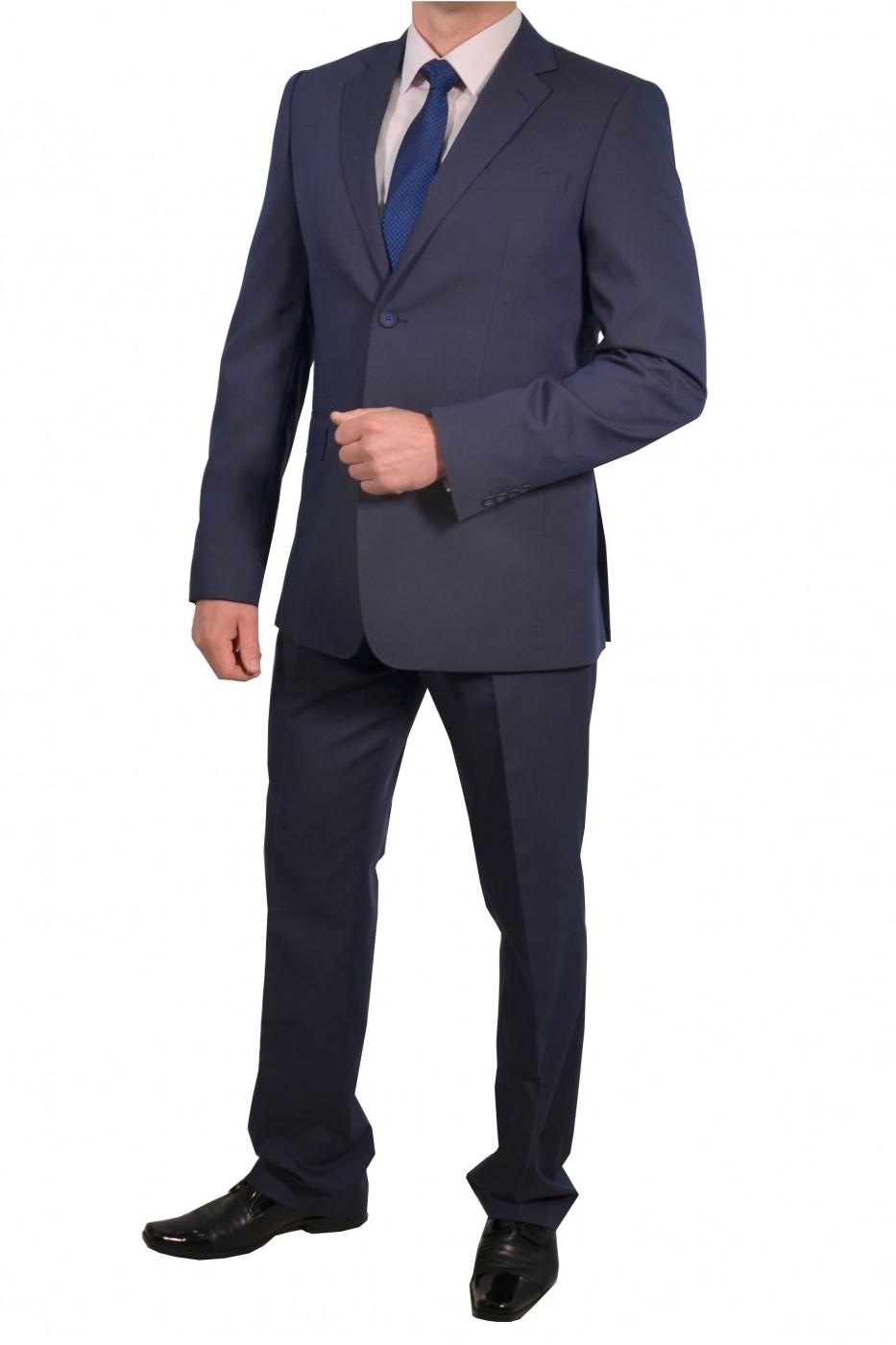 Тёмно-синий мужской классический костюм 695 (OSKAR-SUD2KR)