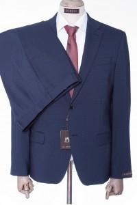 Синий мужской костюм двойка в мелкую клетку DIBONI DP 4675