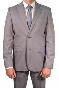 Светло-серый мужской классический костюм 608 (TEODOR-ITUV5KFU)