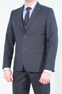 Чёрный мужской костюм-тройка 692 (OSKAR-ITUV5BN550)