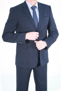 Тёмно-синий мужской костюм 765 (MIKE-157513)