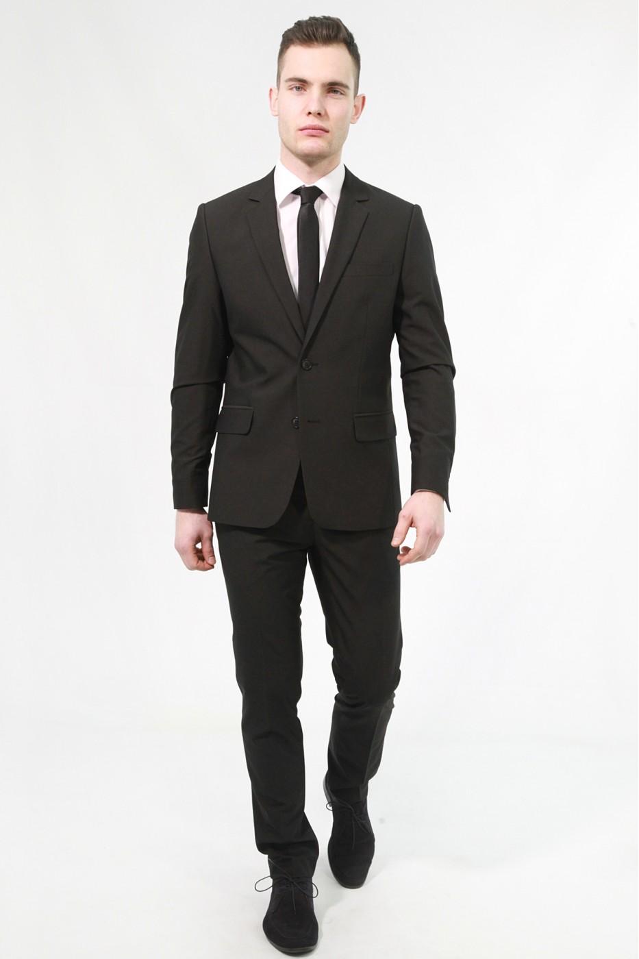 Черный мужской костюм 820 (NAPOLI-162552)
