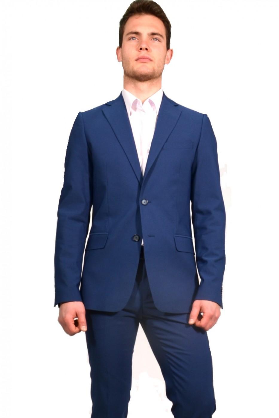 Синий мужской классический костюм 821 (VEMAX-168550)