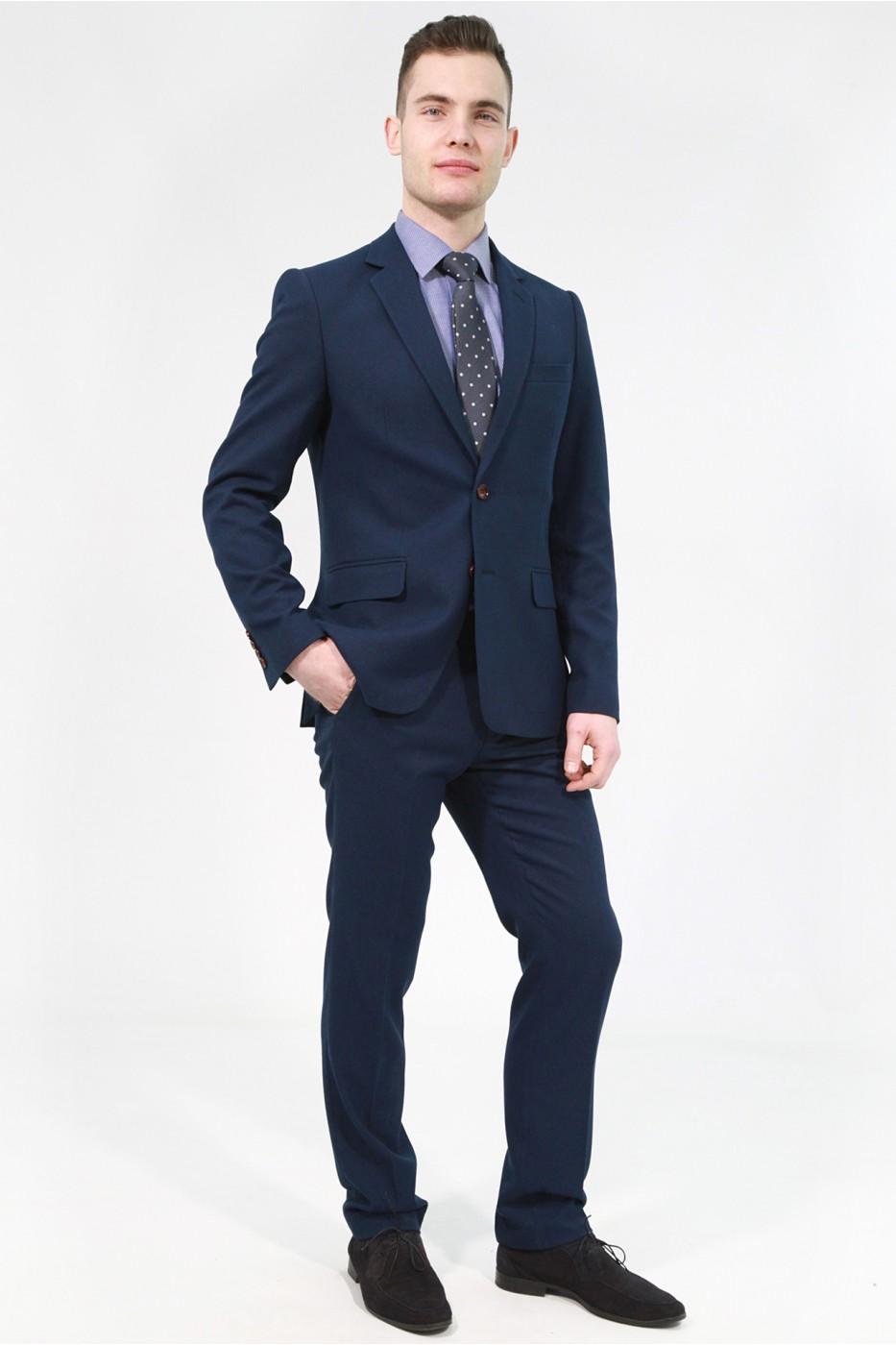 Тёмно-синий мужской костюм 826 (GRACE-162550)