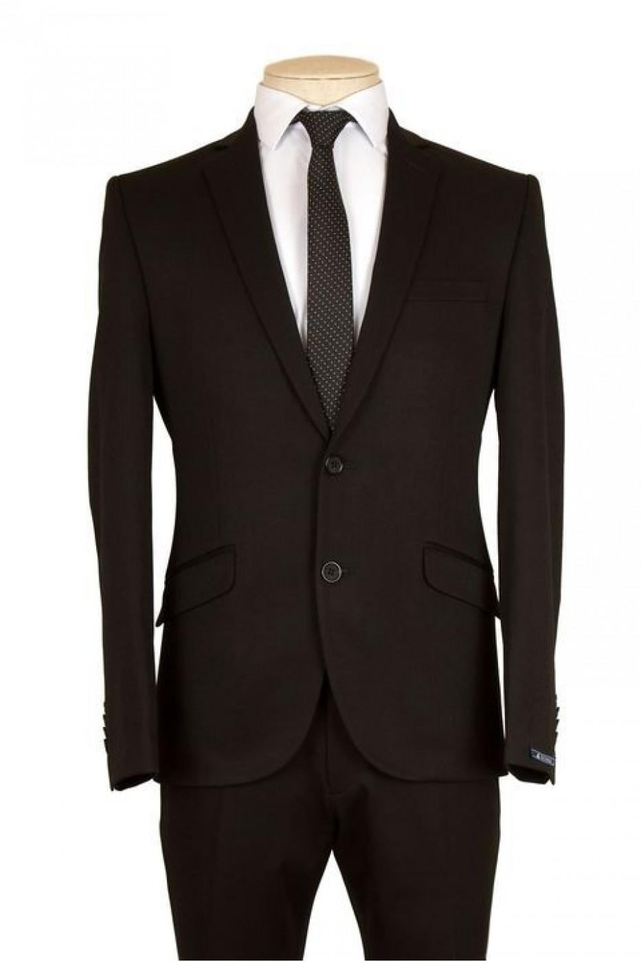 Чёрный мужской костюм NOWAL KD 850