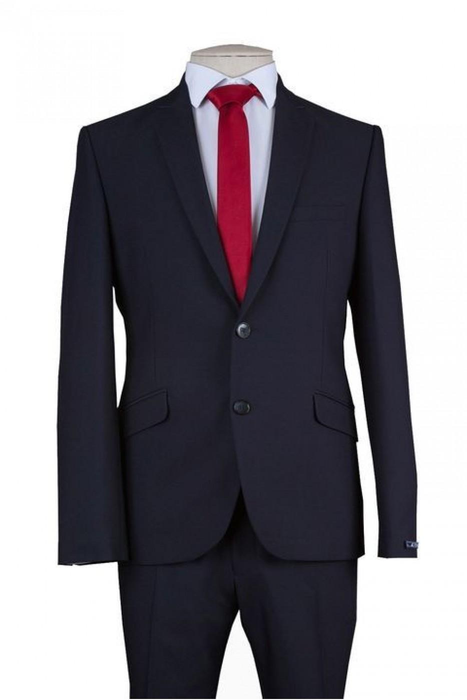 Чёрный мужской костюм NOWAL KD 826