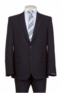Чёрный мужской костюм NOWAL KD 888